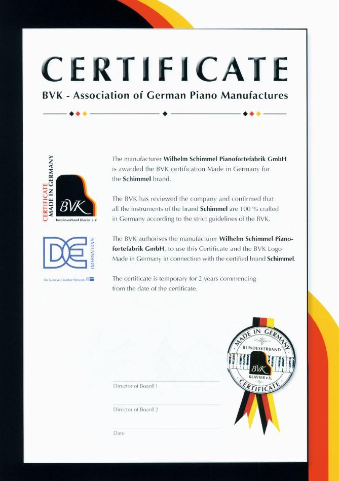 BVK Certificate